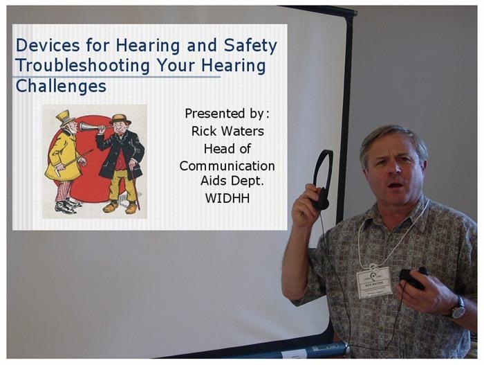 Rick Waters presenting at June Meeting 2005