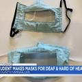 College student makes masks for the deaf & hard of hearing